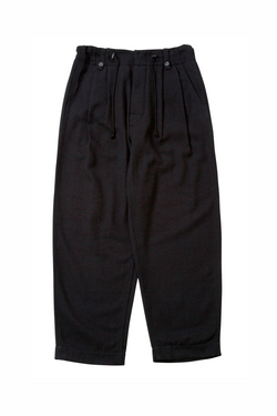 Bukht 2 Tuck Army Trousers - Black