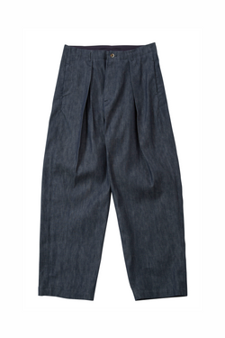 Bukht One Tuck Wide Trousers - Dark Navy