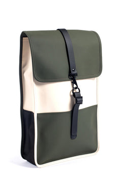 RAINS BACKPACK available in SAND/GREEN