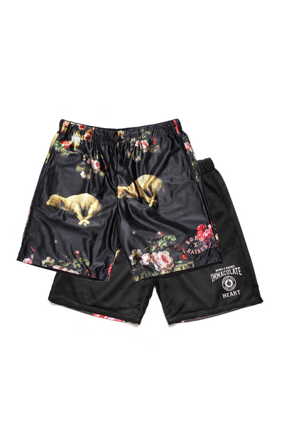Born x Raised Immaculate Heart reversible Basketball Short - Black