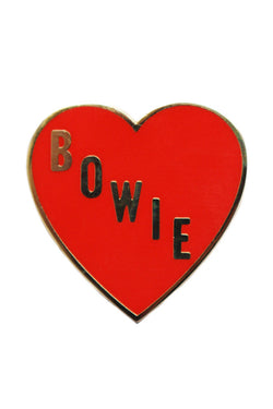 GEORGIA PERRY Bowie Heart Pin Enamel / Gold