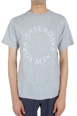 Saturdays Surf Nyc Saturdays Circle T-shirt Ash Heather
