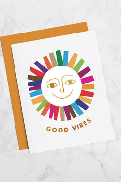 GEORGIA PERRY Good Vibes Greeting Card