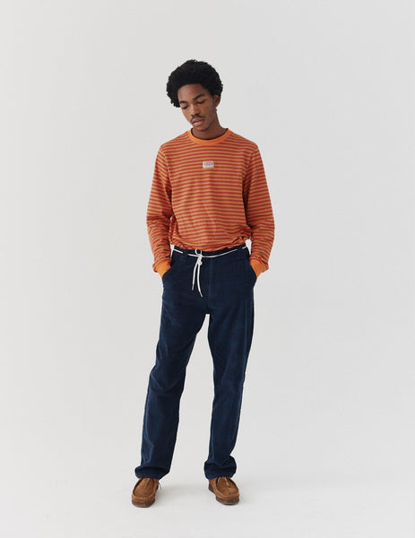 Lazy Oaf Cord Check Trousers - Blue