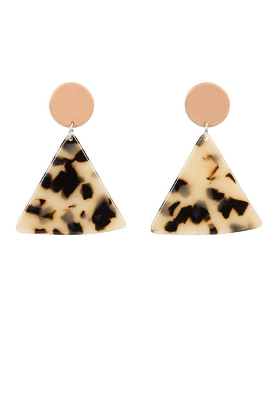 Bianca Maverick Chip Earrings - Peach