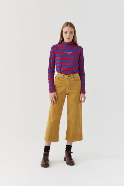 Lazy Oaf Yellow Cord Trousers - Yellow
