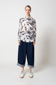 Karen Walker Corsair Pant Raw Denim Indigo