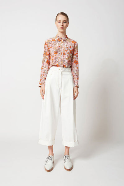 #karenwalker Karen Walker Corsair Pant Brushed Drill Off White Karen Walker is available in Brisbane Queensland Australia at Violent Green Albert street store