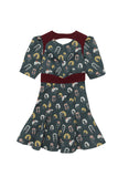 SRETSIS-CURLY SUE DRESS-BLACK BOARD