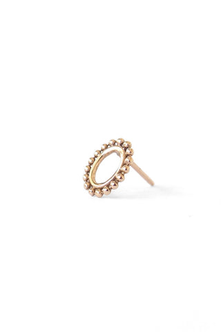 NATALIE MARIE Small Dotted Oval Gold