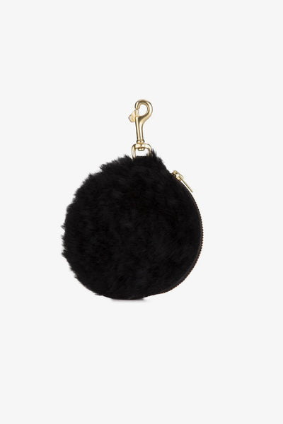 Deadly Ponies Pom Pom Purse Shearling - Black