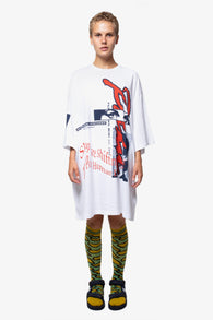 Perks And Mini (P.A.M.) Window Clean Oversized SS Tee - White