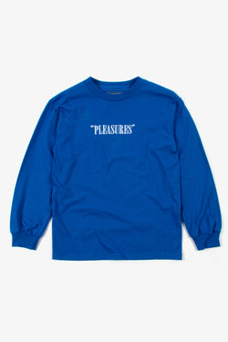 Pleasures Core Logo Embroidered Long Sleeve - Royal Blue