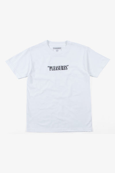 Pleasures Core Logo Embroidered T-shirt - White
