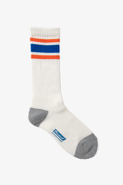 Radiall Line Socks - White / Orange / Blue