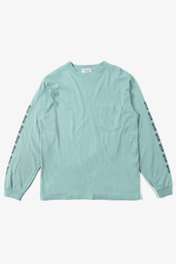 Radiall Shaolin Dubbies T-shirt L/S - Turquoise Blue