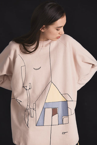 Kowtow Dreamscape Crew Dusty Pink Kowtow is available in Brisbane Queensland Australia at Violent Green Albert Street store