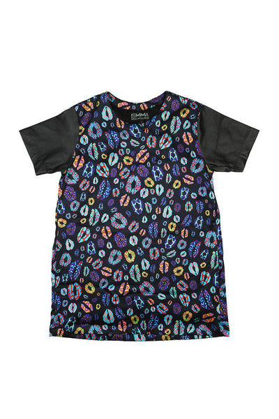 EMMA MULHOLLAND - KISS DRESS - MULTI COLOUR WITH XO PRINT