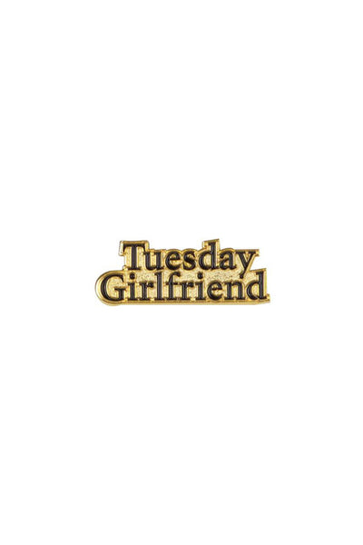 TUESDAY GIRLFRIEND Classic Logo Enamel Pin