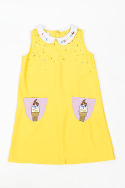 Eat Me Do Ice Scream Dress Yellow