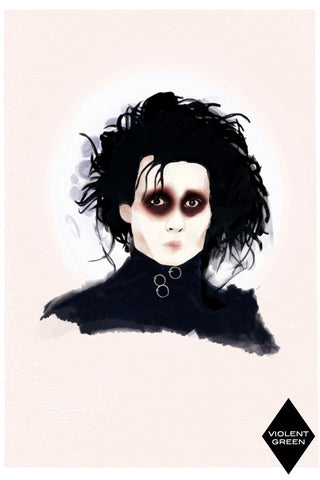 AND LIZZY-EDWARD SCISSORHANDS ARTWORK