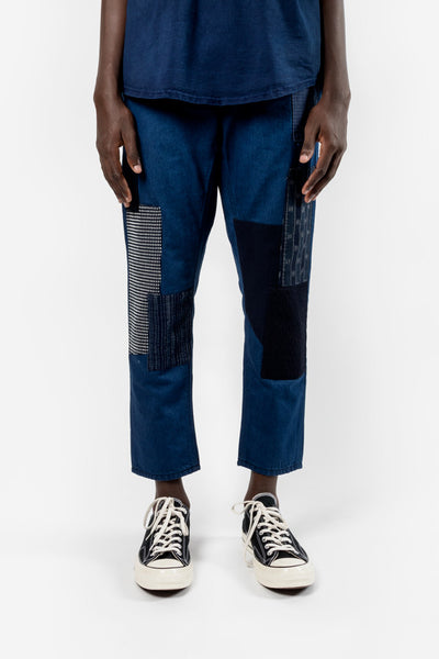 FDMTL Fundamental Luxury Agreement Cropped Boro Denim Rinse Indigo Fundamental Luxury Agreement  FDMTL is available in Brisbane Queensland Australia at Violent Green Albert Street stor