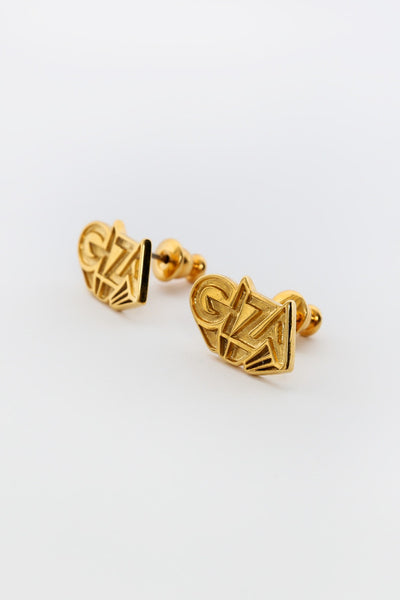GIZA x NANA-NANA 3D LOGO MICRO EARRING available in GOLD
