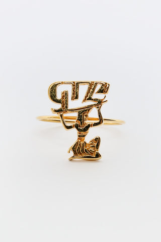 GIZA x NANA-NANA GIZAS LOGO MICRO RING available in GOLD