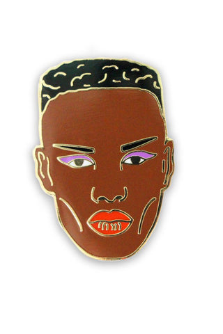 GEORGIA PERRY Grace Jones Lapel Pin