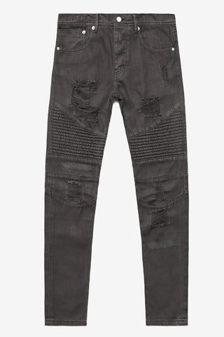 STAMPD Moto Repaired Denim Grey Stampd is exclusively available in Brisbane Queensland Australia at Violent Green Albert Street store.