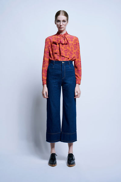Karen Walker Hackamore Pants Denim Indigo Karen Walker is available in Brisbane Queensland Australia at Violent Green Albert Street store