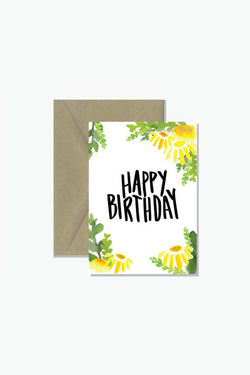 ROSIE LOU Happy Birthday Sunflower Greeting Card