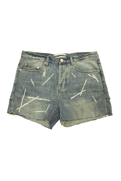 COCURATA Denim Shorts Idiot White