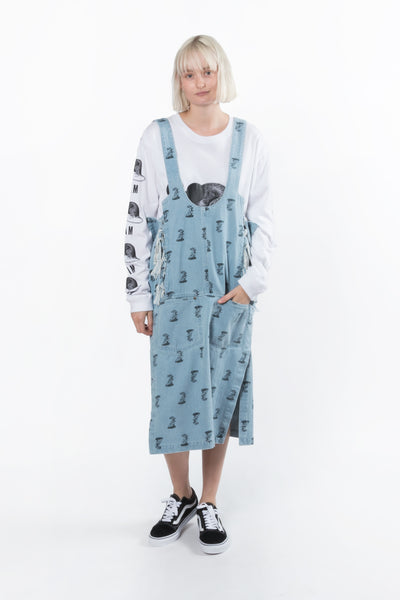 Perks And Mini (P.A.M.) Pippi's Printed Denim Pinafore available in Bleach Perks And Mini aka P.A.M. is available in Brisbane Queensland Australia at Violent Green Albert Street store. #P.A.M. #PERKSANDMINI #PAM #PAMSTOCKIST #PERKSANDMINI #P.A.M.STOCKIST #PERKSANDMINIDEALER #STREETWEAR #AUSTRALIANDESIGNERS #PERKSANDMINIAUSTRALIA #PERKSANDMINIBRISBANE #PERKSANDMINIQUEENSLAND #PAMAUSTRLAIA #PAMQUEENSLAND #PAMBRISBANE #P.A.M.AUSTRALIA #P.A.MQUEENSLAND #P.A.M.BRISBANE #magma
