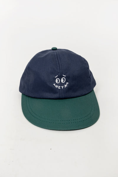 Heya Smiley Cap available in Green/ Blue