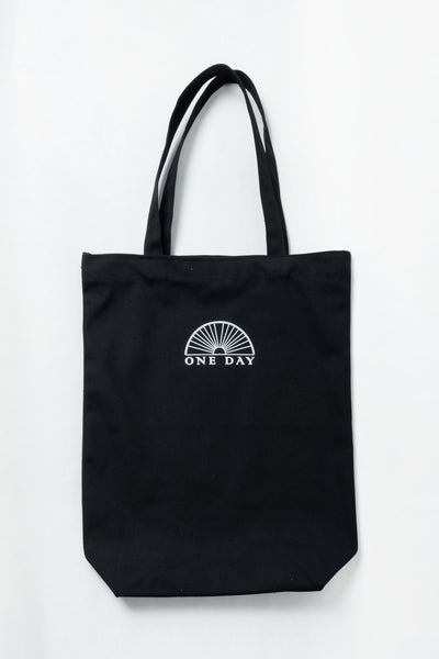 One Day Logo Tote Bag Black