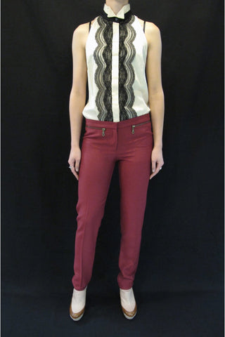 LOVER ZIPPO SKINNY PANT available in RUBY