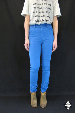CHEAP MONDAY -SECOND SKIN CHINO ( womens)- PRINCE BLUE