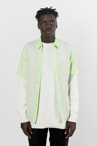 Radiall Fleetline Knitted Shirt S/S available in Lime Green Radiall is available in Brisbane Queensland Australia at Violent Green Albert Street store