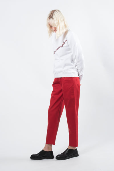 Kowtow turnaround pant available in red Kowtow is available in Brisbane Queensland Australia at Violent Green Albert Street store #kowtow #kowtowclothing #kowtowpant #kowtowstockist #kowtowdealer #kowtowaustralia #kowtowbrisbane #kowtowqueensland #kowtowshop #ethicalfashion #sustainablefashion
