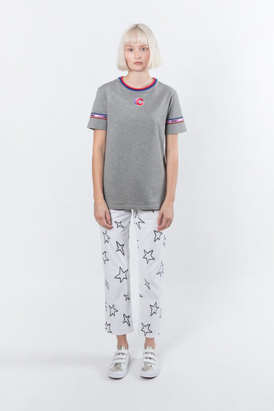Etre Cecile Triple C Badge T-shirt Etre Cecile is available in Brisbane Queensland Australia at Violent Green Albert Street store #etrececile #etrececilestockist #etrececiledealer #etrececileclothing #etrececiletee #etreccecilepant #etrececileskirt #etrececiledenim #etrececileshirt #womenswear #parisienne #parisiennechic