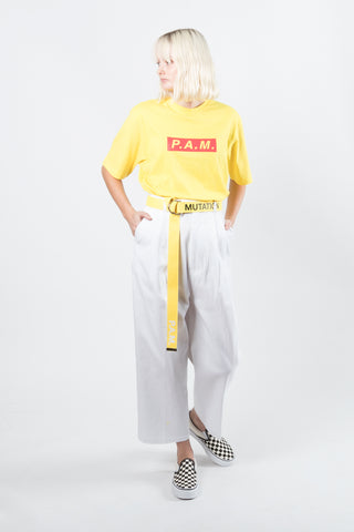 Perks And Mini (P.A.M.) Perspective Pike Trouser available in White Perks And Mini (P.A.M.) Perks And Mini aka P.A.M. is available in Brisbane Queensland Australia at Violent Green Albert Street store. #P.A.M. #PERKSANDMINI #PAM #PAMSTOCKIST #PERKSANDMINI #P.A.M.STOCKIST #PERKSANDMINIDEALER #STREETWEAR #AUSTRALIANDESIGNERS #PERKSANDMINIAUSTRALIA #PERKSANDMINIBRISBANE #PERKSANDMINIQUEENSLAND #PAMAUSTRLAIA #PAMQUEENSLAND #PAMBRISBANE #P.A.M.AUSTRALIA #P.A.MQUEENSLAND #P.A.M.BRISBANE #PERSPECTIVE