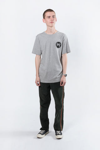 Soulland Ribbon T-shirt with Print Grey Melange  Soulland is available in Brisbane Queensland Australia at Violent Green Albert Street store