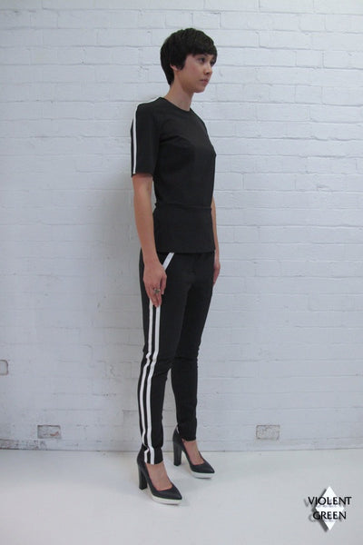 DION LEE LINE II RACER TOP available in BLACK