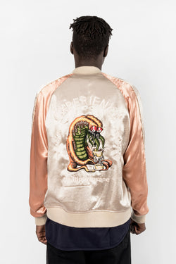 Black Weirdos Acid Satin Jacket Pink Black Weirdos is available in Brisbane Queensland Australia at Violent Green Albert Street store