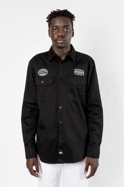 Dickies Paxton L/S Regular Fit Shirt Black available in brisbane queensland australia at violent green albert street store