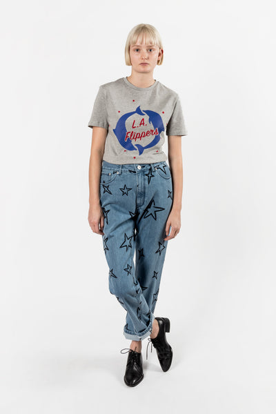 Etre Cecile LA Flippers T-shirt Grey Marle ETRE CECILE IS AVAILABLE IN BRISBANE QUEENSLAND AUSTRALIA AT VIOLENT GREEN ALBERT STREET STORE