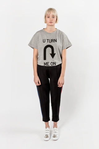 Etre Cecile U Turn Me On Oversized T-shirt Grey Marle Etre Cecile is available in Brisbane Queensland Australia at Violent Green Albert Street store
