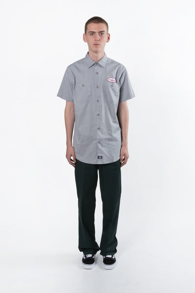 Dickies Daytona Short Sleeve Regular Fit Shirt available in Silver Dickies is available in Brisbane Queensland Australia at Violent Green Albert Street store  #dickies #dickiesstockist #dickiespants #dickiesdealer #dickiesbrisbane #dickiesqueensland #dickiesaustralia #dickies874 #dickies873 #dickiesworkpants #dickiesoriginalpant #dickiesslimstraightpants
