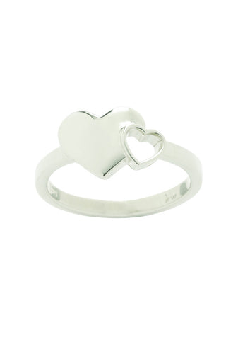 KAREN WALKER-EXPLODING HEARTS RING-SILVER